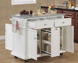 kitchen small island this portable island kitchens cart with regard to