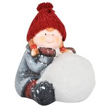 sitting snowball 13cm ceramic figure collectible christmas