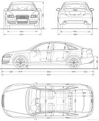 dimension audi a6 the blueprints com blueprints cars audi audi a6 2008