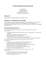 Marketing Specialist Resume Sample by Product Manager Objective Resume Checklist Bill Templates