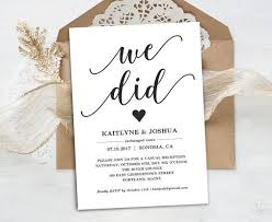 elopement invitations eloping invitations best 25 elopement reception ideas on