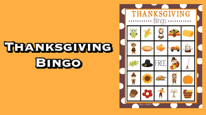 thanksgiving bingo so