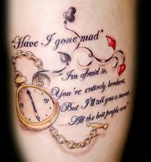 quote on leg mania tattoomagz