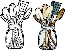 Kitchen Utensils Kitchen Utensils Stock Vector Art 164319695 Istock