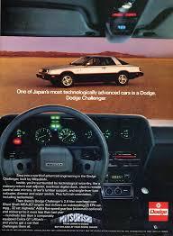 1982 dodge challenger dodge challenger vintage car ads