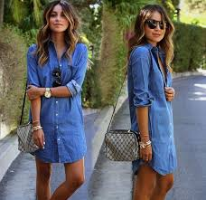 womens tops and blouses denim shirts for womens clothing for and autumn
