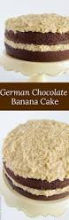 german chocolate banana cake baked by an introvert