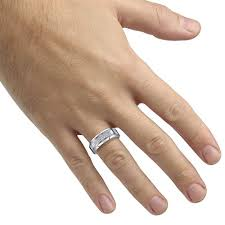 8mm ring caperci men s 8mm cz diamond tungsten carbide wedding