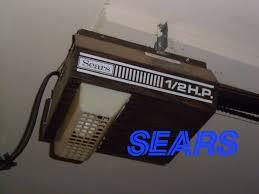2 Door Garage Vintage 1 2 Hp Sears Roebuck Garage Door Opener Youtube