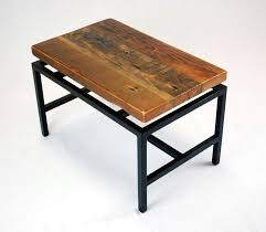 floating table handmade floating top industrial coffee table in reclaimed fir by