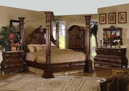 bedroom luxurious carving wood and gold iron combo king size
