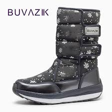 s boots waterproof 2017 waterproof boots snowflake cotton warm shoes