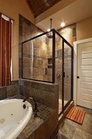 Slate Tile Bathroom Shower Alluring Slate Tile In Bathroom Shower About Home Interior