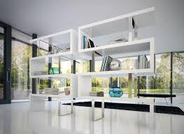 furniture home contemporary bookshelves modern light blue color