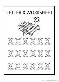 lowercase letter x worksheet free printable preschool and