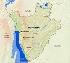 Africa Physical Map Burundi Physical Map