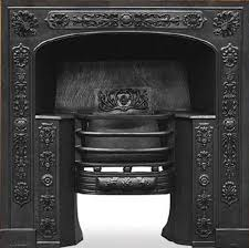 queensferry black finish cast iron fireplace hob grate