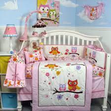 Baby Girl Nursery Bedding Set by Baby Girl Owl Crib Bedding Aliexpress Com Buy Pink Owl Pcs Baby