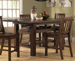 Bar Height Dining Room Table Sets Astounding Dining Table Chairs Set Bar Height Wood On Ilashome
