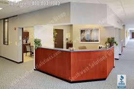 Hospital Reception Desk Nurse Station Casework Furniture Movable Millwork Workstations