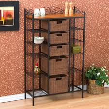 Bakers Rack Wrought Iron Bakers Rack Ideas For Your Kitchen Buungi Com
