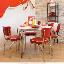 Chair Frames For Upholstery Furniture Retro Red Dinette Sets Design Ideas Of Chrome Dinette