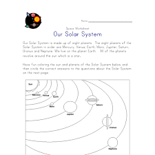 free worksheets planets for kids worksheets free math