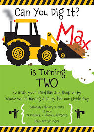 truck birthday party truck birthday invitations best 25 construction party invitations