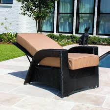 trendy outsunny rattan wicker swivel outdoor recliner lounge chair