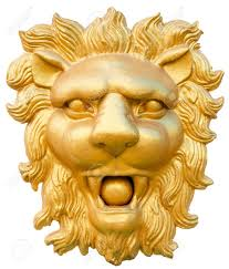 gold lion statue statue of golden lion isolated on white stock photo picture