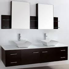 Bathroom Vanity 72 Double Sink Inch Wall Mounted Double Espresso Wood Bathroom Vanity Include
