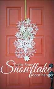 dollar store snowflake door hanger dollar stores doors and store