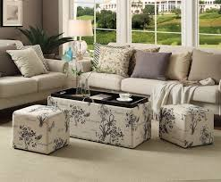 Ottoman Coffee Table With Storage by Storage Ottoman Bench Coffee Table Footstool Furniture Tray Fabric