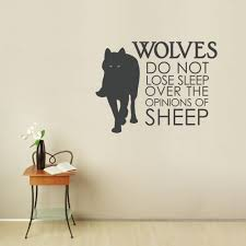 Wall Stickers Cats Wolves Do Not Lose Sleep Wall Quote Decal