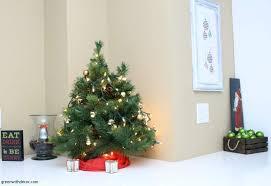 mini tree scarf green ornaments brown basket santa