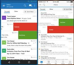android outlook app outlook comes to android and ios as office for android exits beta