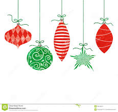 whimsical hanging ornaments stock illustration image
