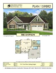 plan 1598r2 the dawson house plans ranch house plan greater
