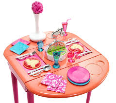 barbie dinner to dessert dining room set furniture amazon canada