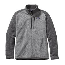 patagonia mens better sweater patagonia mens better sweater 1 4 zip fleece nickel w forge grey