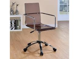Coaster Office Chairs 801437 Acrylic Office Chair with Steel Base