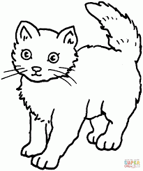 cat and heart coloring pages cooloring com color sheets to print