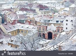 picture of winter garden and roofs of ledeburska palace prague