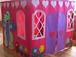 card table playhouse tent pink princess castle tent felt