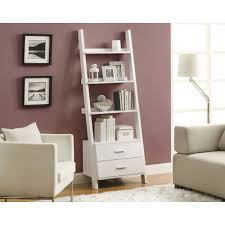 Living Room Shelf Unit by Glamorous Living Room Decor Idea Comes With A White Ladder