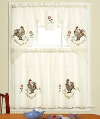 kitchen white walmart kitchen curtains with rooster print for