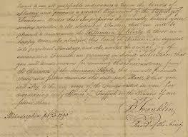 thanksgiving proclamation 1789 benjamin franklin abolition of slavery