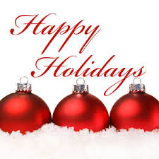 happy holidays note that our office will be closed for