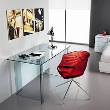 Office Glass Desk Fiam Luminare Small Office Glass Table 140cm Panik Design