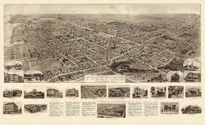 Nassau Map Vintage Poster Old Map Of Freeport New York 1909 Nassau County
